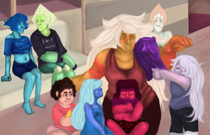 Steven Universe - Slumber Party by mysteriousMaiden-MM