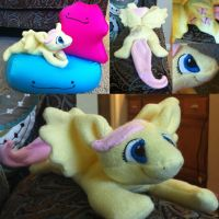 Fluttershy plush by LeluDallas
