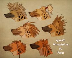 Gnoll Hairstyles by LadyFiszi