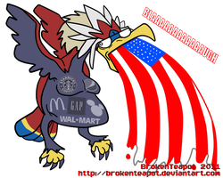 BRAVIARY USED PATRIOTISM by BrokenTeapot