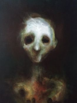 Portrait of a weary ghost.  by Tumultism