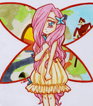 Human Fluttershy by LimboTheLost