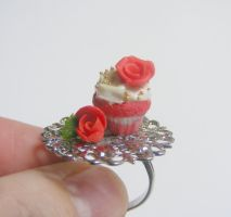 roses and red velvet cupcake  from NeatEats shop by rhonda4066