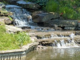 Waterfall at Holden Aboretum by AndehDulac