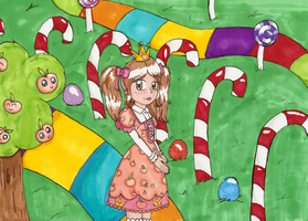 CE: Peachie in Candy Land by Lolly-pop-girl732