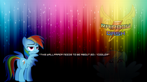 Rainbow Dash Wallpaper by KiyoshiKouta