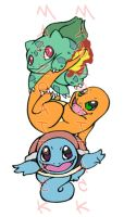 Pokemonstarter Tattoo Design by Maszeattack