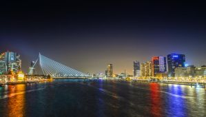 Rotterdam by Night 01 by wolfgangbuhr