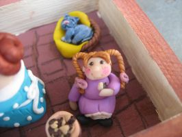 Eating a chocolate biscuit by SelloCreations