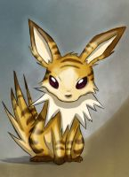 Stripey the jolteon-Adopted by Pink-Death-Pigeon