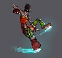 Cyborg punch by metalparts