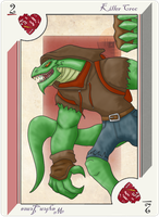 Playing Card Killer Croc by JayMaverick