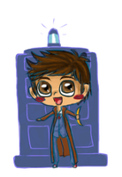 Doctor Who and Tardis by SuperHeroPattyFatty