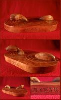 Happy Year of the Water Snake: Cherrywood Woodwork by xofox