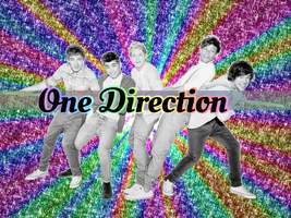 One Direction Rainbow Sparkle Wallpaper by iluvlouis