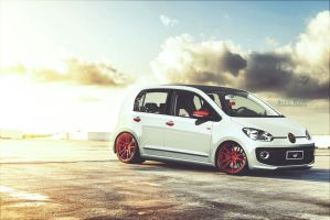 VW UP! White Red by BrunoEgidioDesign