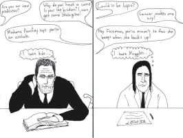 Professor House and Snape M.D. by gurgledog