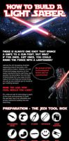 How to Bulid a Light Saber (Infographic) by agondeviant