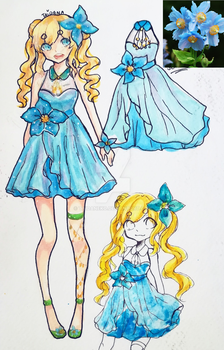 [S.I.A] Himalayan Blue Poppy dress by TaiDaneko