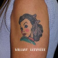 Drop Dead Red tattooed by William Lemaster by SmilinPirateTattoo
