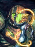 Zero Suit Samus by Inkmonkey-Woodis