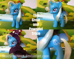 The Great and Powerful Trixie Custom Pony by saucycustoms