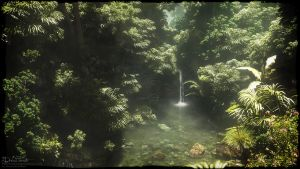 Little Tropical Pond by 00AngelicDevil00