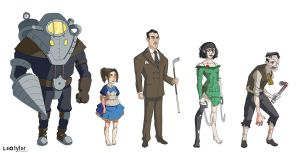 Bioshock Cartoon by leotyler