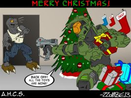 Halo Christmas 1024x768 WP by ZZoMBiEXIII