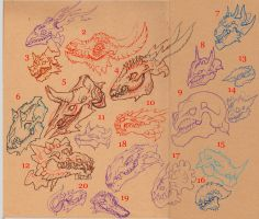 Dragon Skull Adoptables 2 SOLD by Decadia