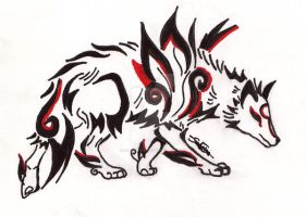 Okami tattoo 5 by Northwolf89