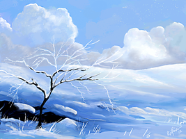 Snowscene Speed Paint by ghost549