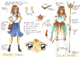Reference Sheet: Sailor Deneb by Toto-the-cat