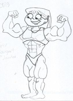 Young Muscle Girls sketch 01  by TheFranksterChannel