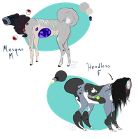 Gemnus Hound Adoptables (price reduced) by ChainsawTeaParty
