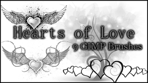 GIMP Hearts of Love by Illyera