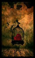 heart in a cage. by GorgeousFrankenstein