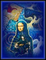 oldpaintingrevisited mona lisa blue digital by santosam81