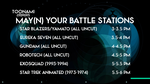 My Dream Toonami TNG May Military Lineup by PeachLover94