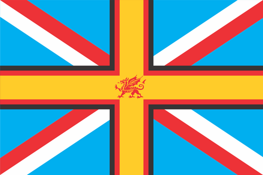 Flag Dump: AltHistory Welsh Empire by ThaDrummer