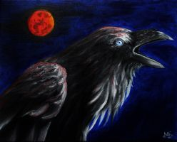 Raven's Call ~ Under the Blood Moon by MortNevermore