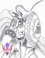 [Cubicle Drawing 07] - Gallantmon by DragoonMyuutsu