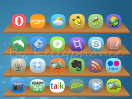 Droid icons meego style by Kellyphonic