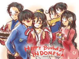 Happy Independence Day 68, Indonesia by Rupyon