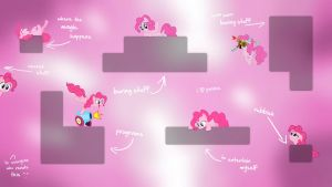 Pinkie Pie guarding your icons (Wallpaper) by Prollgurke