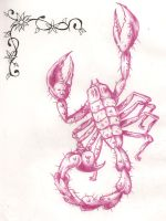 Scorpian tattoo design by Mr-P-P-Hed