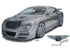 Bentley GT by SIMPSONARTISTRY