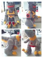 Grimlock transformer plush by LRK-Creations