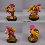 Dixie Kong Amiibo by ChibiSilverWings