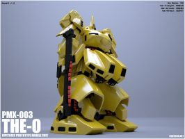 GUNDAM PMX-003 THE O - front by krz9000